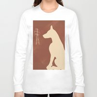 doberman Long Sleeve T-shirts featuring Doberman Dog by ialbert