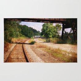 Vintage Railroad Tracks Rug