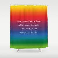 teacher Shower Curtains featuring {Teacher -Dance} by tutubi creative