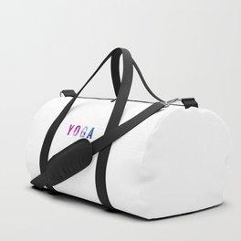 Yoga Bokeh Typography Duffle Bag