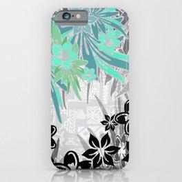 Hawaiian Teal Tropical iPhone Case