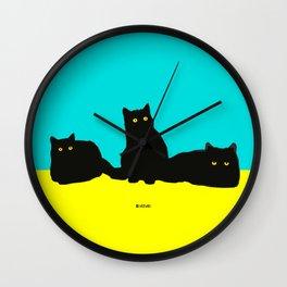 Three Cats Wall Clock