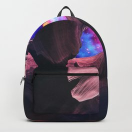Grand Canyon with Colorful Space Collage Backpack