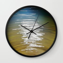 Sunshine Reflection at the Quarry - Abstact ICM, The Shape of Water Wall Clock