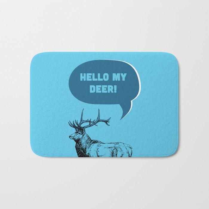 Hello My Deer! Bath Mat