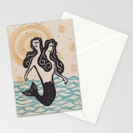 Siamese Twin Memaids Stationery Cards