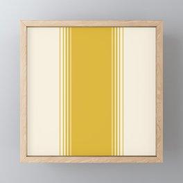 Marigold & Crème Vertical Gradient Framed Mini Art Print