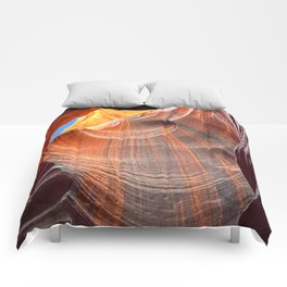 Geology Alive - Time Passage of Upper Antelope Canyon Comforters