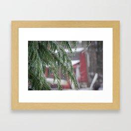 Winter Barn Framed Art Print