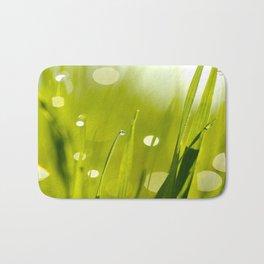 Wonderful Morning Dew - Spring Green - Beatiful Bokeh Bath Mat