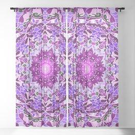 aurora mandala purple Sheer Curtain