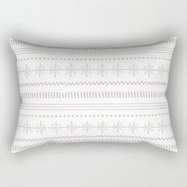 Fair Isle - Neutral Christmas Pattern Rectangular Pillow