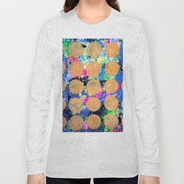 Bubble Wrap Abstract Pop Painting by Robert Erod HUGE COLORFUL ART Long Sleeve T-shirt