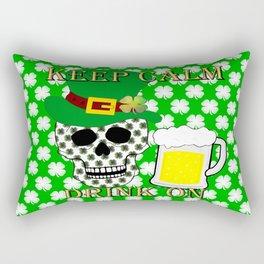 Keep Calm Drink On - St Patrick Day Rectangular Pillow
