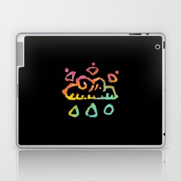 rainbow cloud doodle gradient Laptop & iPad Skin
