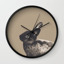 Little Rabbit on Sepia #1 #decor #art #society6 Wall Clock