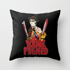 Slasher Mash (NSFW) Throw Pillow