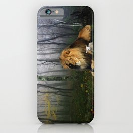 Lion and Lamb iPhone Case