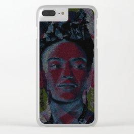 Frida: Screenplay Print Clear iPhone Case