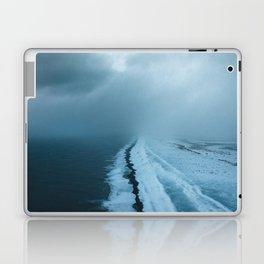 Moody Black Sand Beach in Iceland - Landscape Photography Laptop & iPad Skin