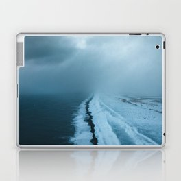 Moody Black Sand Beach in Iceland - Landscape Photography Laptop & iPad Skin