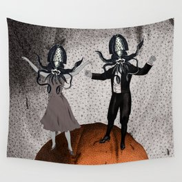 Orange Alien Nation Wall Tapestry