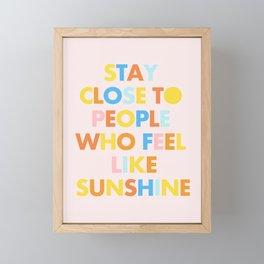 Sunshine People Framed Mini Art Print