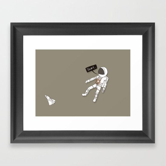 Spaceman Adrift Framed Art Print