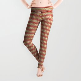 Traditional Romanian embroidery pixel Leggings