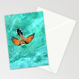 Swimming Bird Stationery Cards