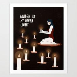 Guided by my inner light Art Print