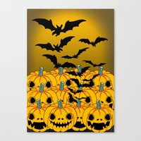 halloween Canvas Prints featuring halloween by mark ashkenazi