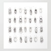 bugs Art Prints featuring Bugs by Emma Kelly