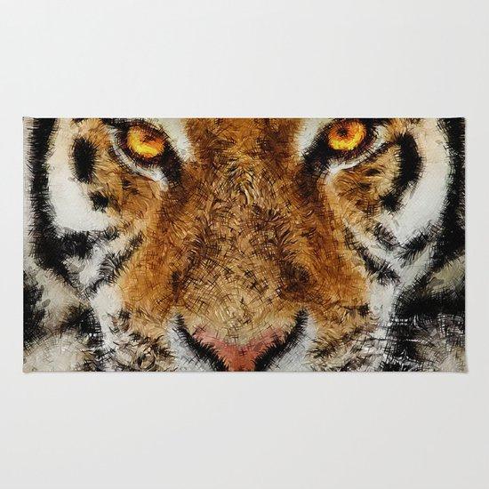 Animal Art - Tiger Rug By Diego Tirigall