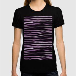 Irregular watercolor lines - ultra violet T-shirt