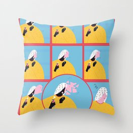 break and compose Throw Pillow