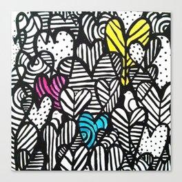 Graffiti Hearts Canvas Print