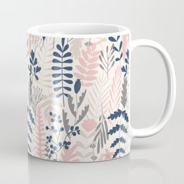 Leaves and flowers pattern Coffee Mug