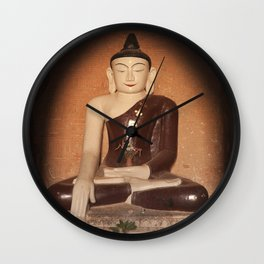 Buddha in Bagan Wall Clock