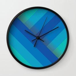 Stripes (blue/aqua) Wall Clock