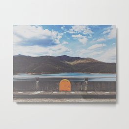 Life Ring On Fontana Damn • Appalachian Trail Metal Print