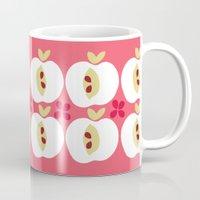 apple Mugs featuring apple by ottomanbrim
