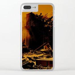 Unfathomable Destruction Clear iPhone Case