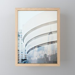 New York Times Two - Double Exposure Photography Framed Mini Art Print