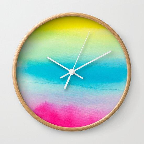 Watercolor I Wall Clock