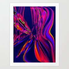 Recycled Smoke Abstract Design Art Print