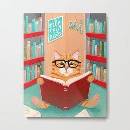 The Little Reader Metal Print