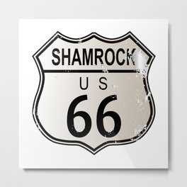 Shamrock Route 66 Metal Print