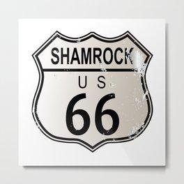 Shamrock Route 66 Metal Print