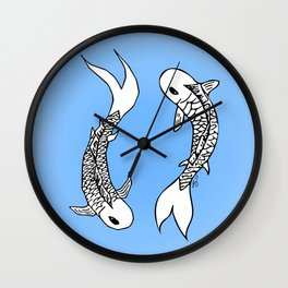 Koi Yin-Yang (V1) Wall Clock